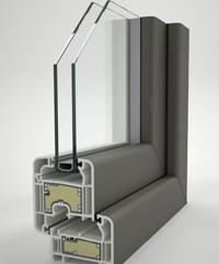 Ventana PVC practicable
